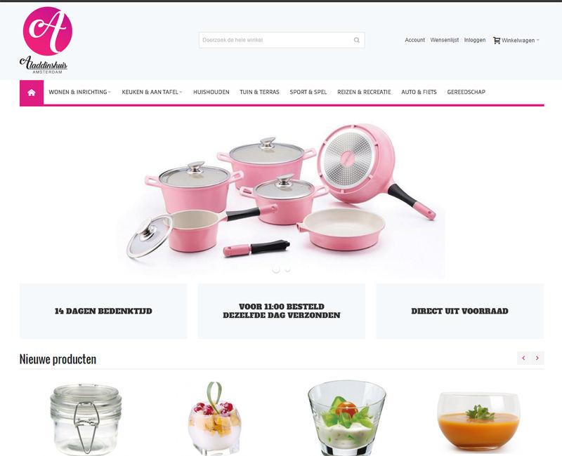 Frisse en overzichtelijke Magento webshop