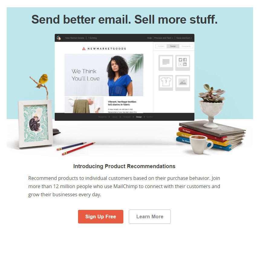 Nieuwsbrieven via Mailchimp