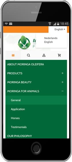 Meertalig menu op mobieltje