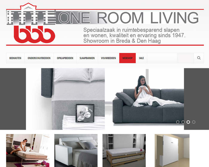 Oneroomliving responsive homepage