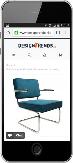 Productpagina designtrends mobiel