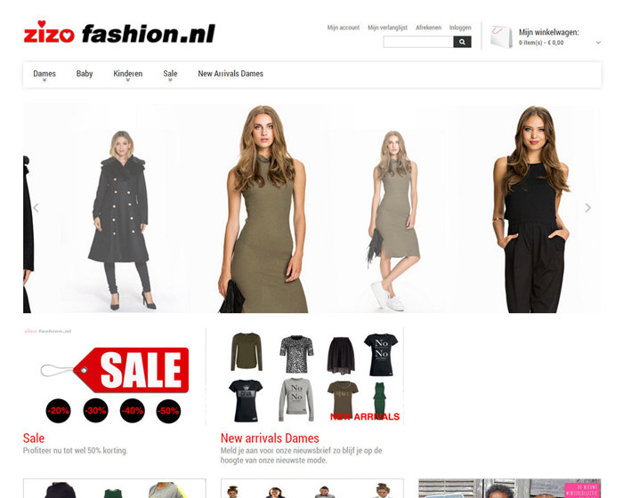 Responsive kleding webshop
