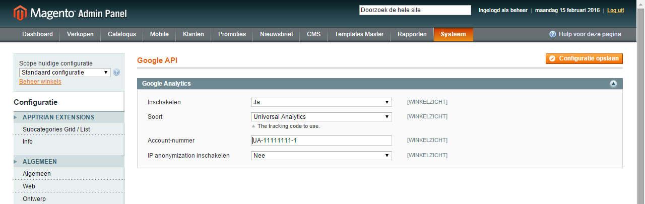 Google analytics koppelen aan uw Magento webshop