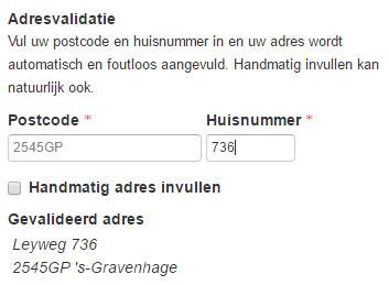 Adresvalidatie via postcode.nl