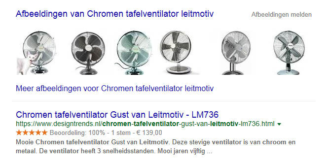 Gele review sterretjes in google