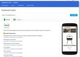 Google Pagespeed geoptimaliseerd