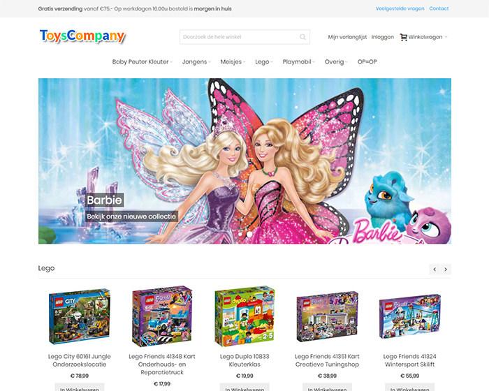 Toyscompany Magento 2 webshop